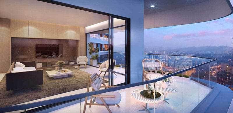 Cho thuê căn hộ City Garden 2 phòng ngủ
