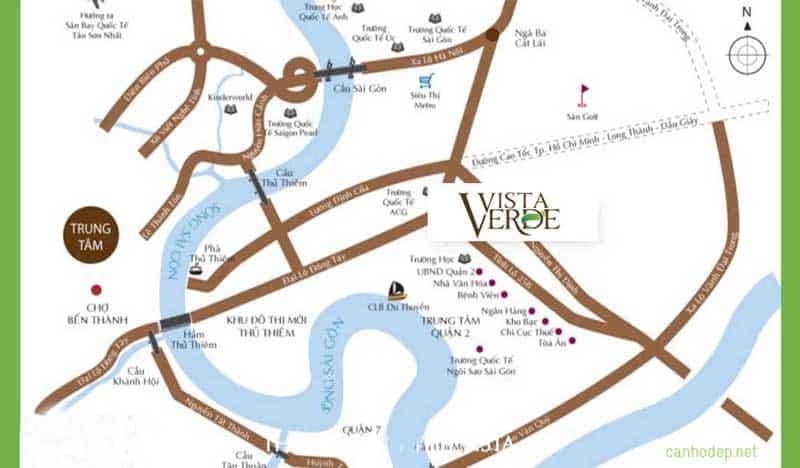 Vị trí Căn hộ Vista Verde