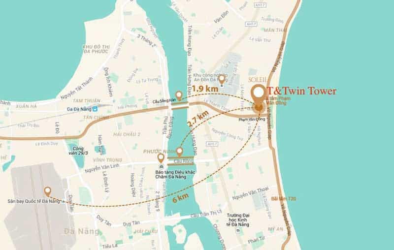 Vị trí Condotel Twin Tower