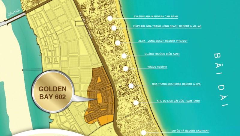 Vị trí dự án Golden Bay Cam Ranh giai đoạn 2