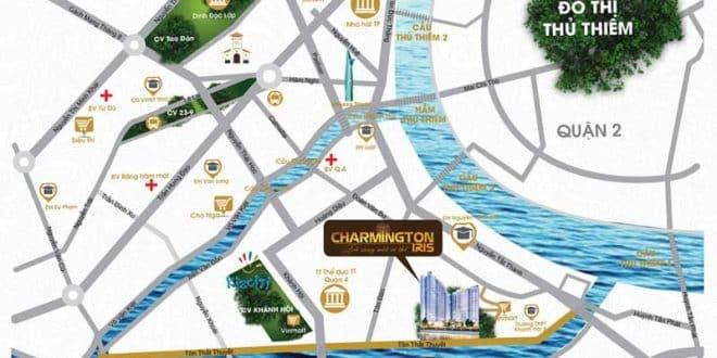 Vị trí Dự án căn hộ Charmington Iris