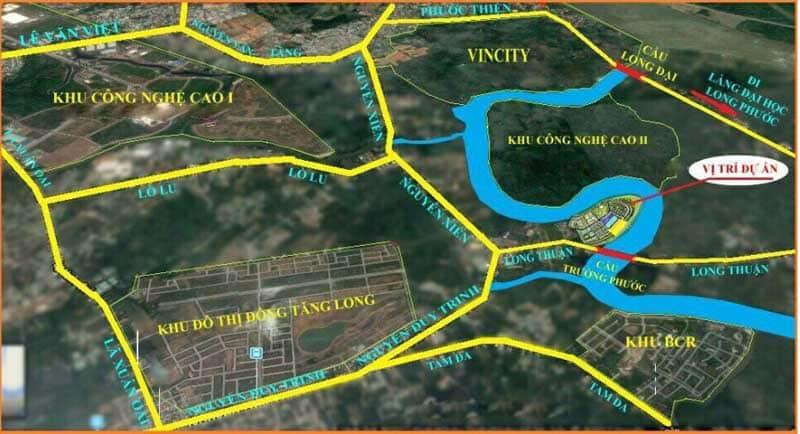 Vị trí Căn hộ Đảo Kim Cương quận 9