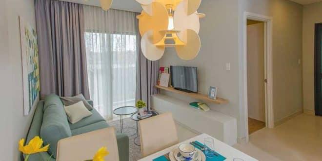 Phòng khách căn hộ M One