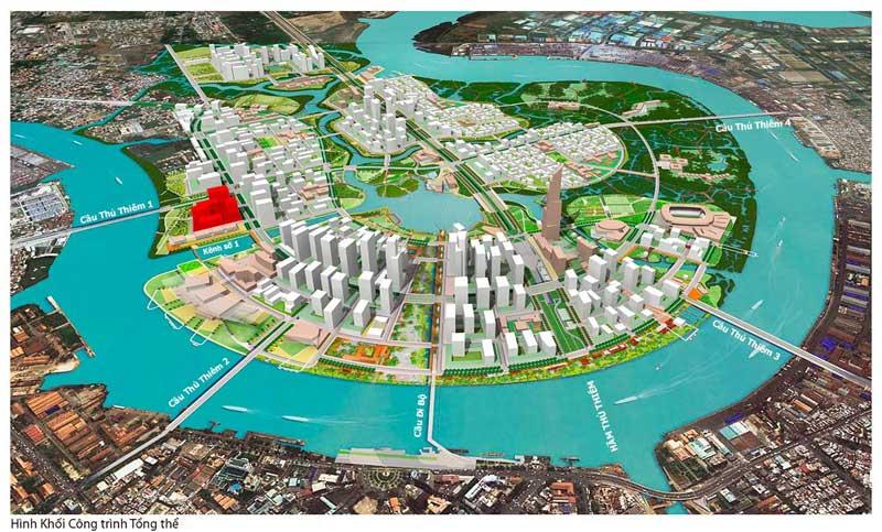 Vị trí Marina Bay Thủ Thiêm