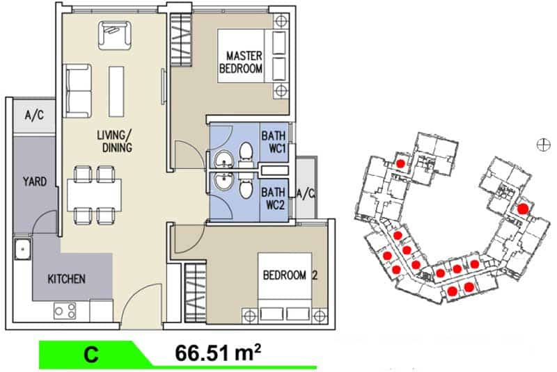 Mặt bằng căn hộ Celadon City