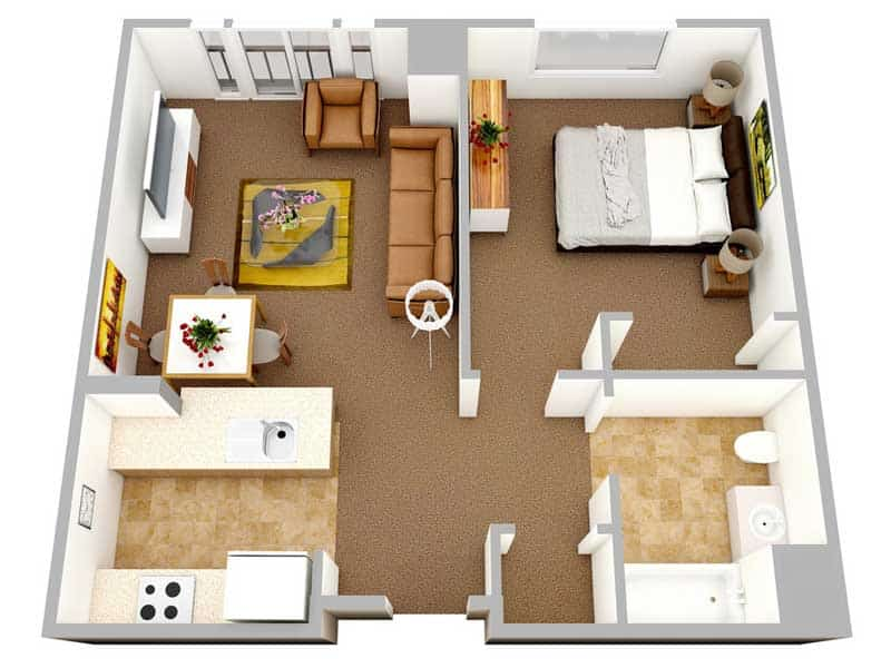 Mặt bằng căn hộ The Manor