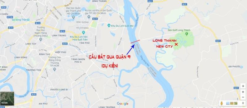 Vị trí dự án Long Thành New City