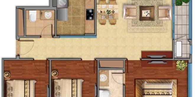 Mặt bằng Vinhomes 3 phòng ngủ