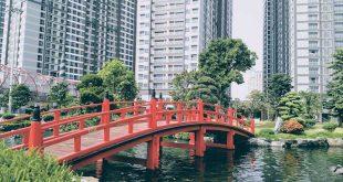 Cầu đỏ công viên Vinhomes