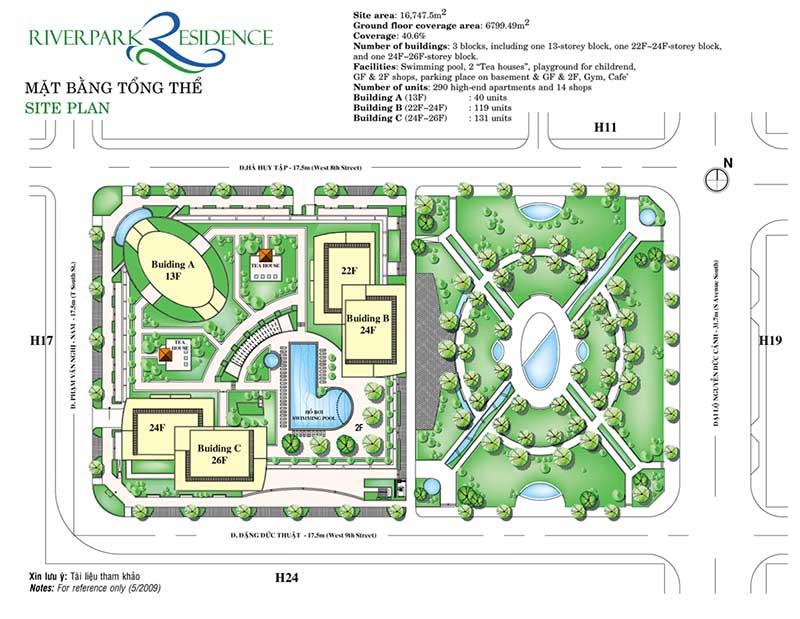Mặt bằng Căn hộ Riverpark Residence