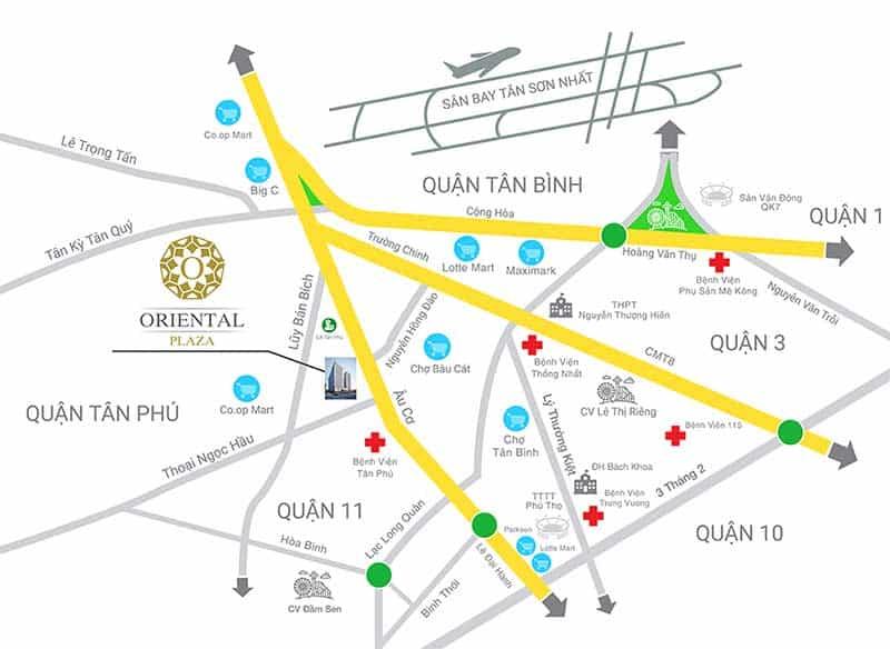 Vị trí Oriental Plaza