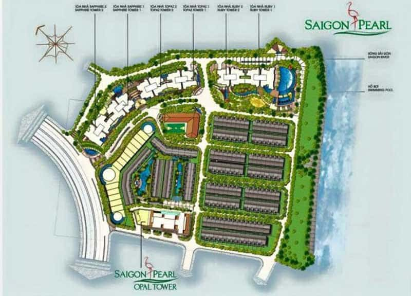 Saigon Pearl 2 phòng ngủ