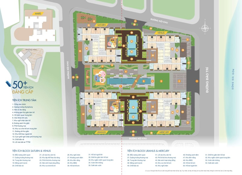 50 sắc thái tiện ích nội khu dự án Q7 Saigon Riverside Complex
