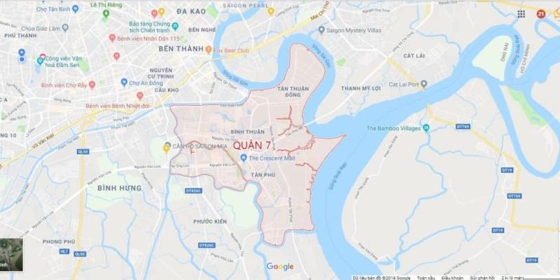 Bản đồ quận 7 TP Hồ Chí Minh