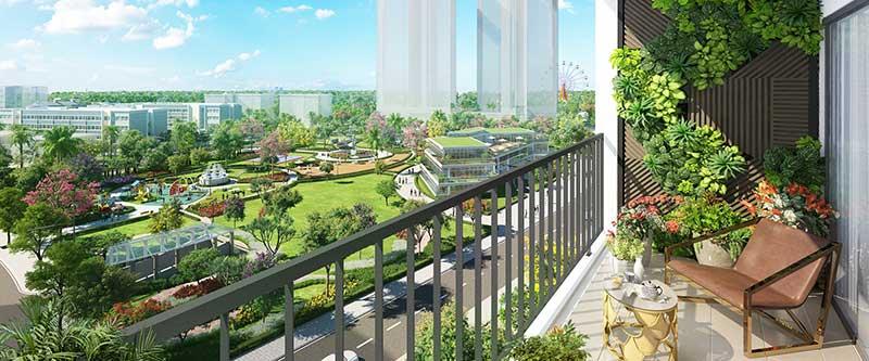 View từ Căn hộ Eco Green