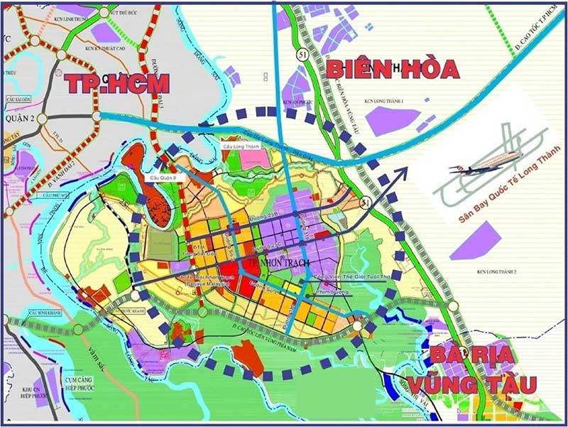 Bản đồ quy hoạch đất nền Nhơn Trạch