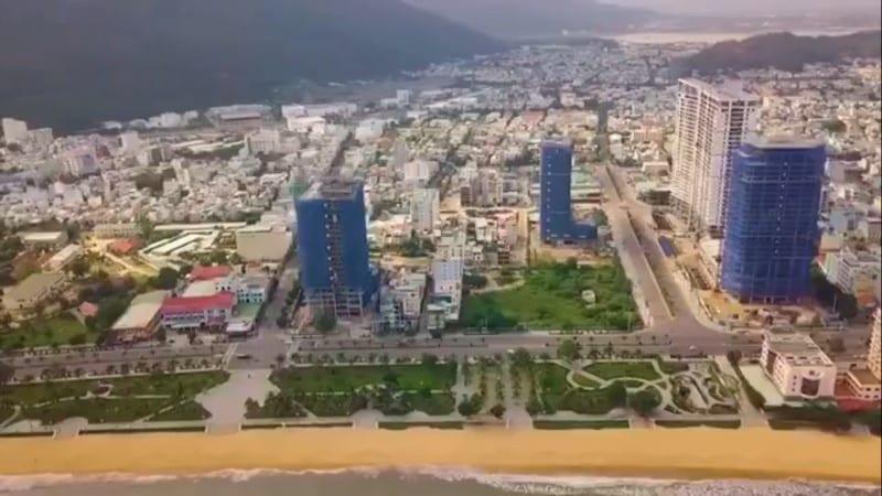 Dự án Quy nhơn Melody nhìn từ Vịnh Quy Nhơn vào thành phố