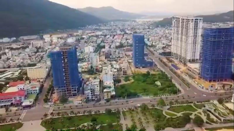 Hướng view Tây-Bắc từ dự án Quy Nhơn Melody nhìn vào trung tâm thành phố