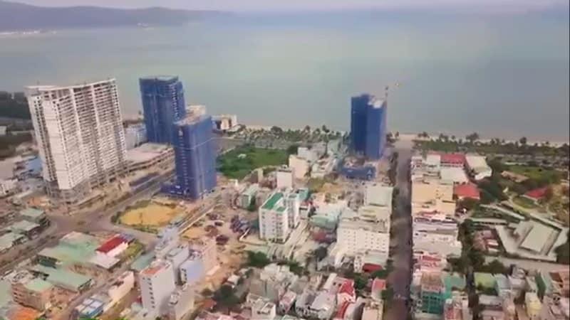 Hướng view Đông-Nam từ dự án nhìn ra biển