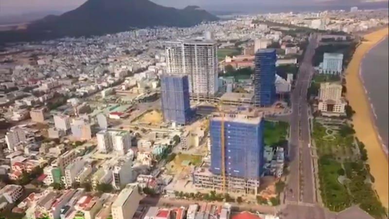 Hướng view Đông-Bắc từ dự án Quy Nhơn Melody Hưng Thịnh nhìn về đầm Thị Nại