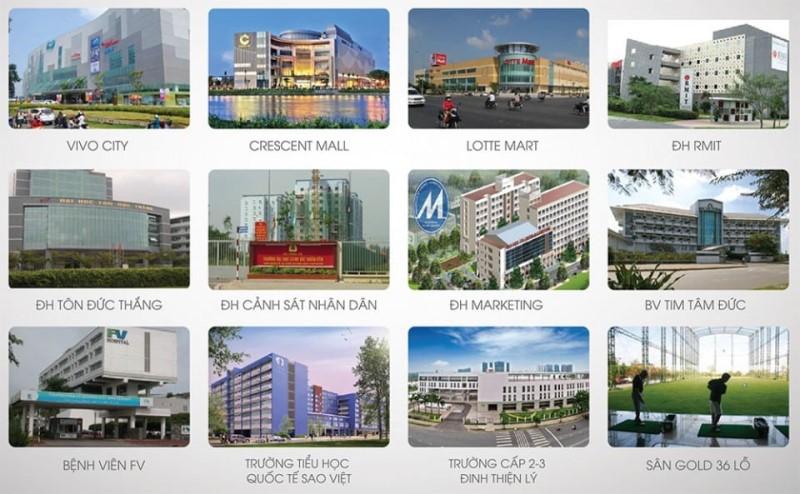 Tiện ích ngoại khu dự án Q7 SAIGON RIVERSIDE Complex Đào Trí