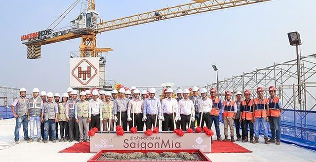 Cất nóc dự án Saigon Mia Trung Sơn