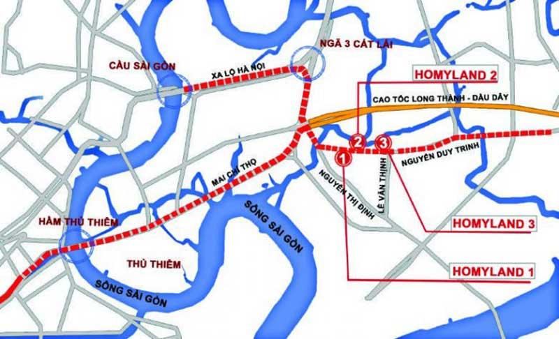 Vị trí căn hộ Homyland 3