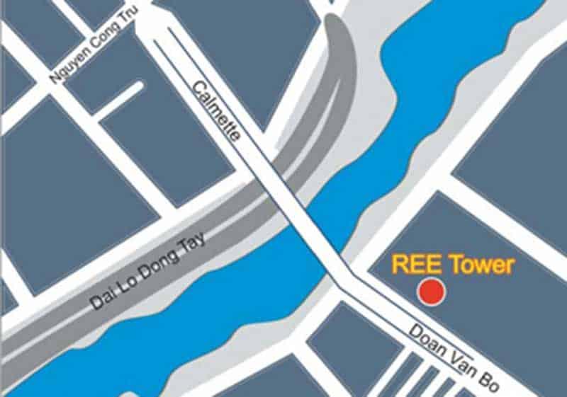 Vị trí tòa nhà Ree Tower