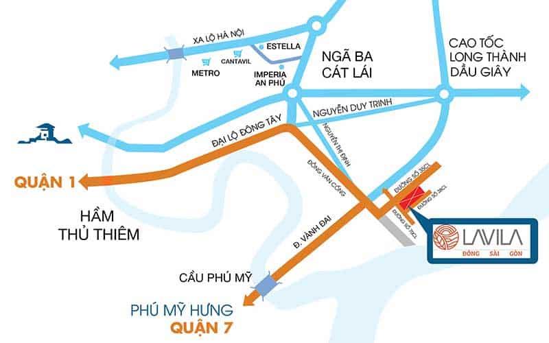 Vị trí Lavila Đông Sài Gòn 2