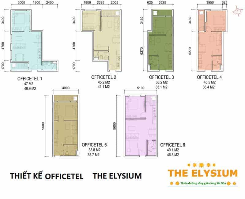 Mặt bằng Căn hộ Elysium Tower