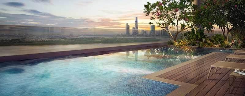 Bể bơi tại One Verandah
