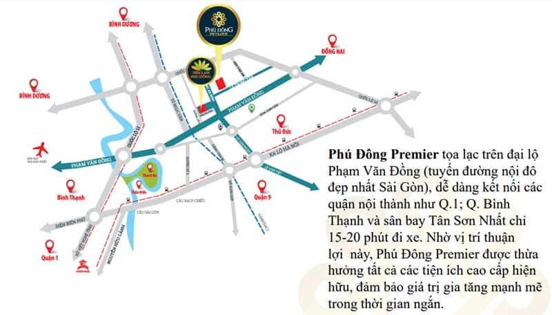 Vị trí căn hộ Phú Đông Premier