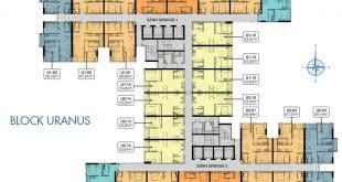 Mặt bằng căn hộ điển hình tầng 6-18 - 20-34 Block Uranus