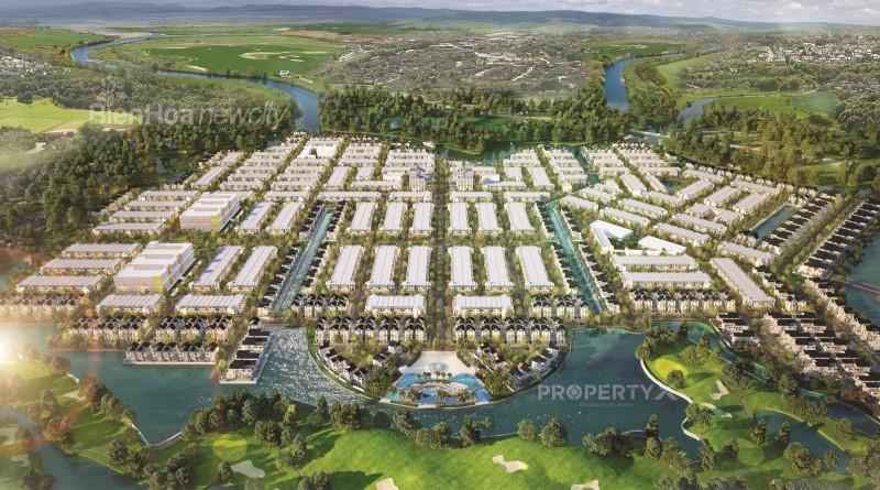 Phối cảnh tổng thể Biên Hòa New City nhìn từ sân Golf