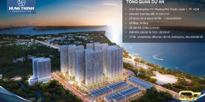 Phoi canh Q7 saigon Riverside Complex ve dem
