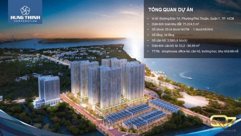 Phối cảnh dự án căn hộ Q7 Saigon Riverside Complex về đêm