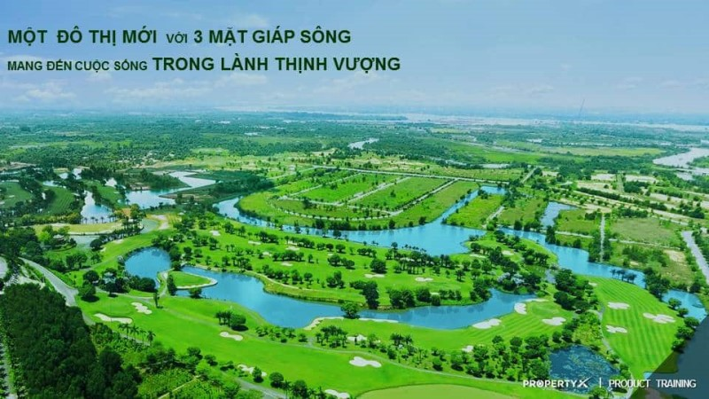 Biên Hòa New City được bao bộc bởi 3 mắt là sông