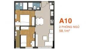 Sơ đồ thiết kế căn hộ A10 Căn hộ 9 View