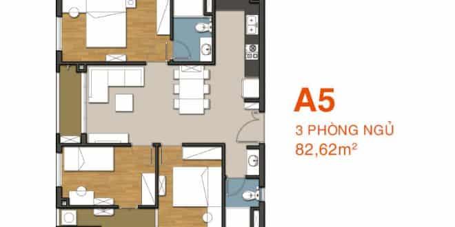 Sơ đồ thiết kế căn hộ A5 Căn hộ 9 View