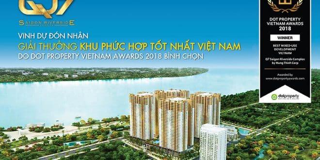 Q7 Saigon Riverside Complex đạt giải khu phức hợp tốt nhất Việt Nam