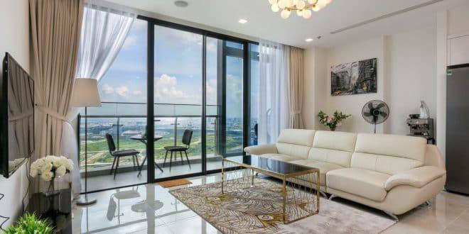 Phòng khách Vinhomes Golden River - Bason