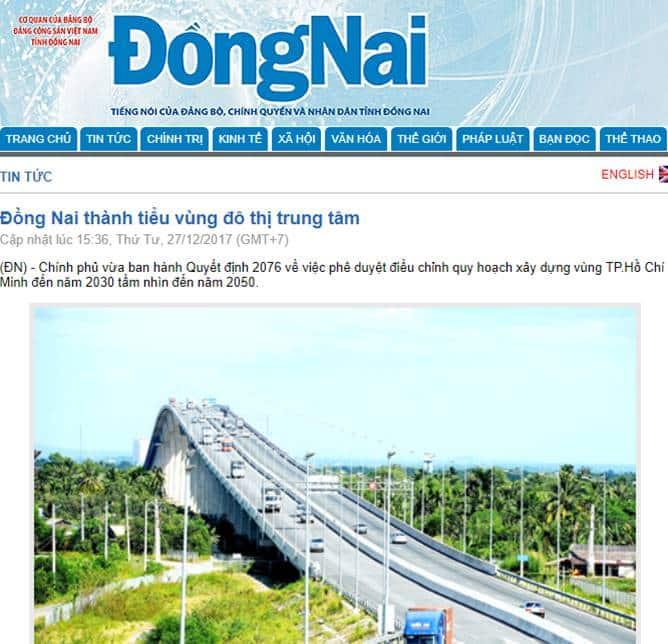 Đồng Nai thành tiểu vùng đô thị trung tâm