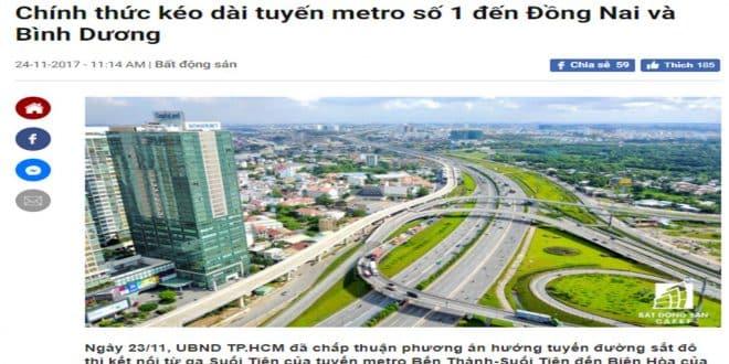 Chính thức kéo dài tuyến Metro số 1 đến Bình Dương và Đồng Nai