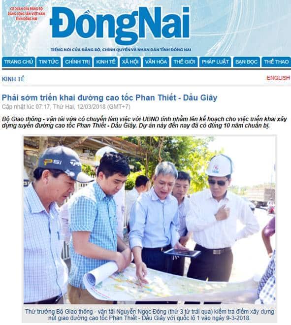 Cao tốc Dầu Giây – Phan Thiết sẽ giải phóng mặt bằng năm 2019