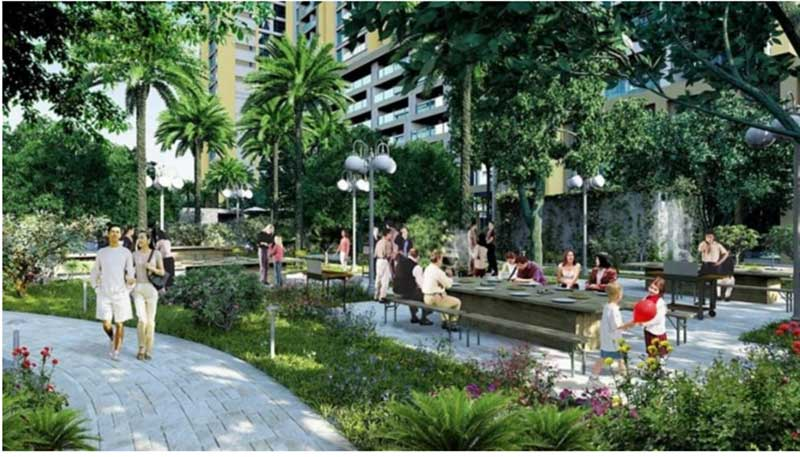 Khuôn viên dự án Eco Green