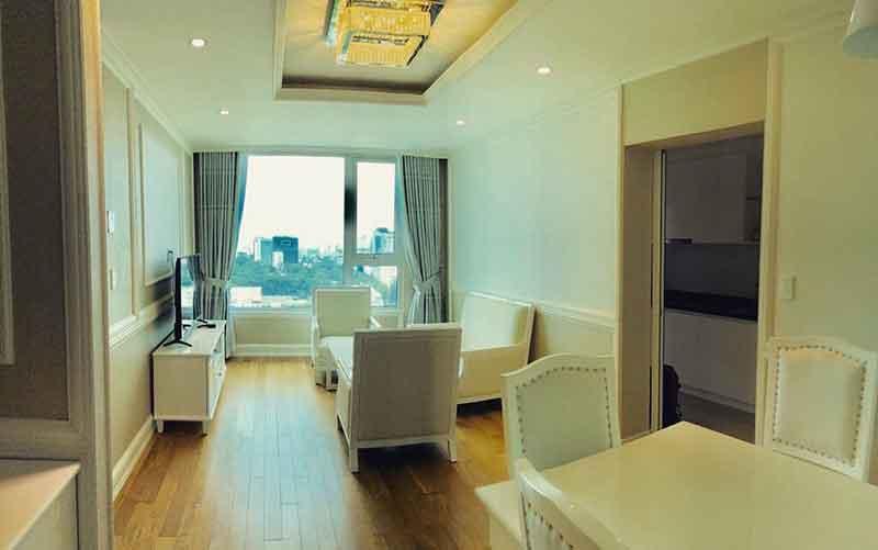 Phòng khách căn hộ Leman quận 3