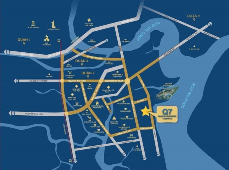 Vị trí dự án Q7 Saigon Riverside