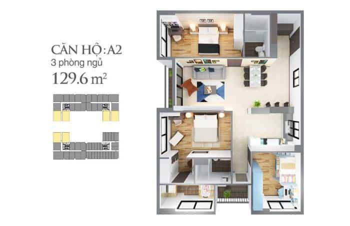 Bản vẽ thiết kế căn hộ Sky Center