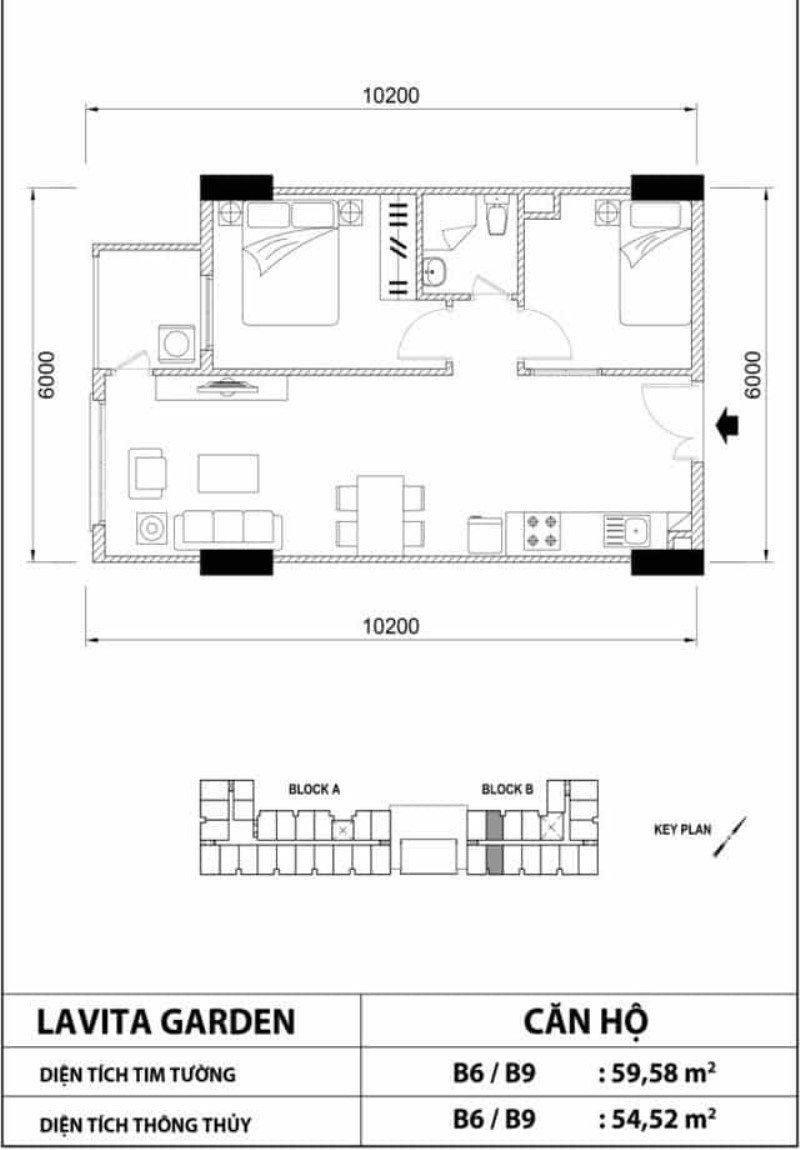 Bản vẽ thiết kế căn hộ Lavita Garden