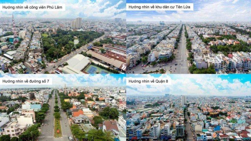 Các hướng View nhìn từ chung cư Moonlight Residences (Hình ảnh thực tế được chụp bằng live cam)